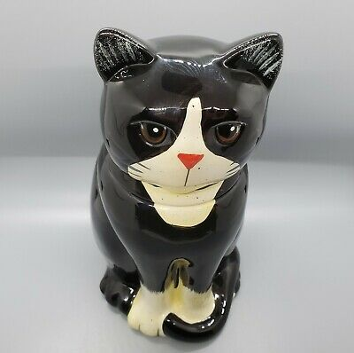 Country Cat Cookie Jar Canister by Linda Spivey/Black & White 2004