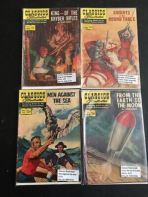 Classic Illustrated Comics Lot of 4:  #'s 103 - 105 - 107 and 108