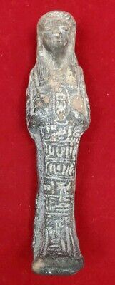 Ancient Egyptian Carved Stone Sarcophagus - Figural Statue Relic