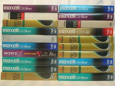 Lot of 20 Used VHS Tapes- Sold as Blank Tapes