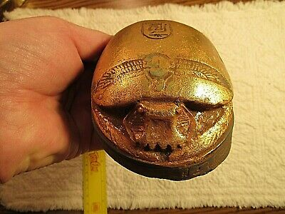 Rare Antique Ancient Egyptian Scarab water Gold Book Dead 1520-1440BC!!