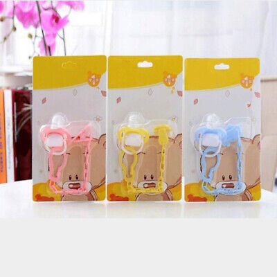 Dummy Clips Cartoon Holder Soother Pacifier Chain Boys Girls Baby Strap Useful