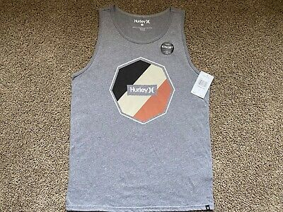 $26 - Brand New Hurley Tank Top Mens Tee T Shirt Strexer Gray Ultra Soft Small S