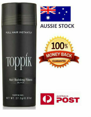 2x TOPPIK 27.5g PACK Hair Loss Building Fibers Alopecia Thicker BLACK