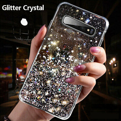 For Samsung S9 S10 Plus S10E S20 Ultra Glitter Crystal Case Soft Silicone Cover