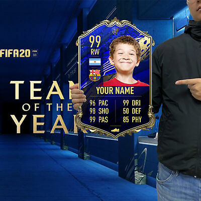Personalised FIFA 20 Ultimate Team FUT TOTY Card Acrylic Board Customized Gifts