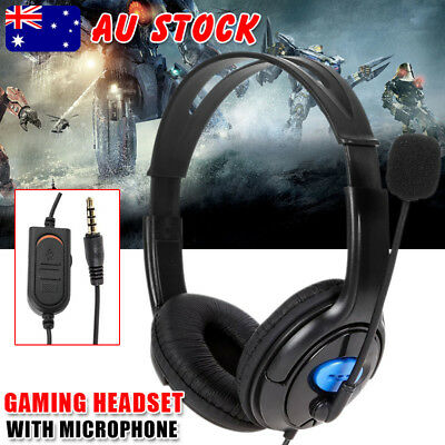 Stereo Bass Surround Gaming Headset VOLUME CONTROL for PS4 Xbox One PC with Mic
