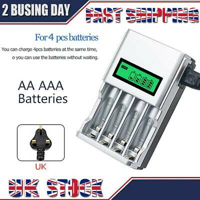 LCD Display Intelligent Fast Battery Charger for AA AAA Rechargeable Batteries .