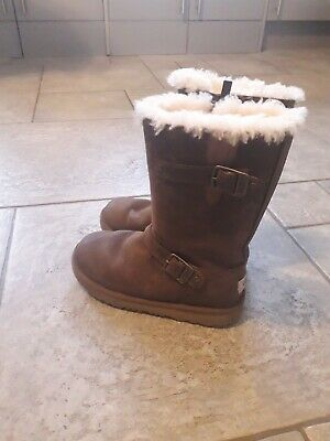 Uggs Australia Authentic Girls Calf High Boots Used Size Junior 1