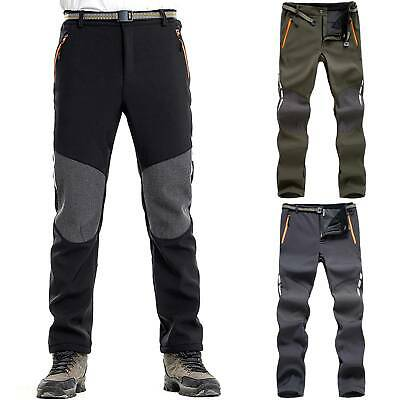 Men SOFT Shell Outdoor Trousers Thick Sugan Velvet Hiking Spots Pant Waterproof