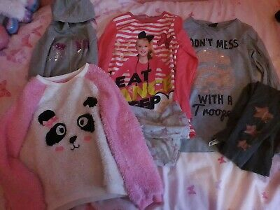 girls pyjama bundle age 8-9 years from various outlets