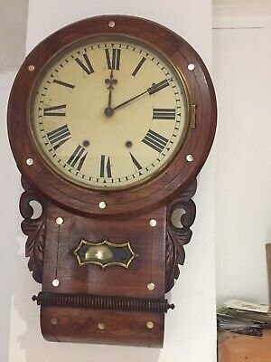 Beautiful Antique 8 Day Striking Wall Clock