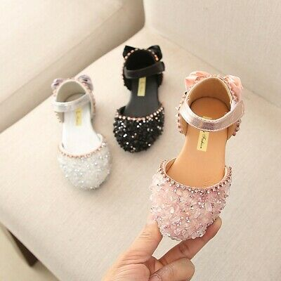 Teen Infant Kids Baby Shoes Girls Bowknot Crystal Princess Sandals Casual Shoes