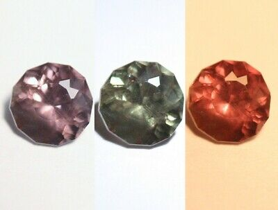 0.67ct Colour Change Garnet - Custom Cut Gem with Rare Superb Colour Change 5x5