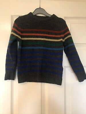 Boys rainbow striped jumper Marks And Spencer M&S Age 3-4 Years