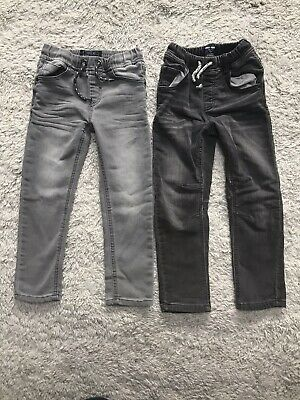 2 Pairs Of Boys NEXT Denim Jogger Jeans - Elasticated Waist - Age 4-5 & Age 5