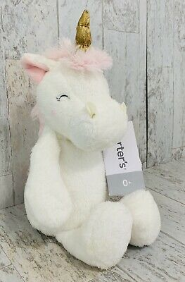 New Carter/'s Plush Girl/'s Doll Toy Happy Swan Gold Crown NWT 9 in Soft White