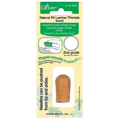 Clover Natural Fit Leather Thimble – Small – Curves With Your Finger Tip Cl6028