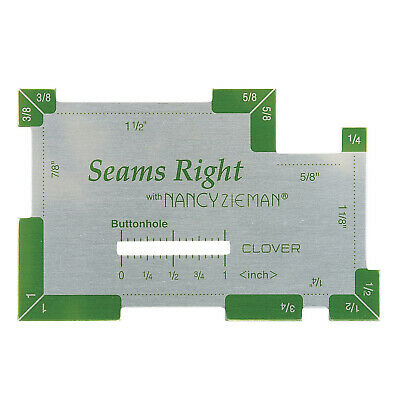 Clover Seams Right Tool - Multi Functional Sewing Gauge - Cl9507