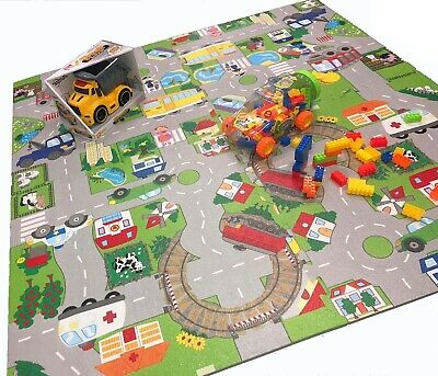 Children's Soft Foam Eva Interlocking Mat City Road Kids Floor Play Mat Nursery