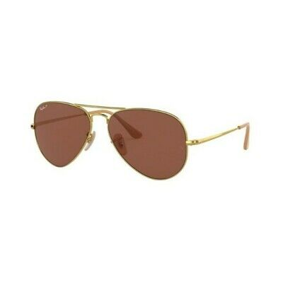 Occhiali sole Ray Ban RB3689 9064/S2 55 Gold Blue polarized