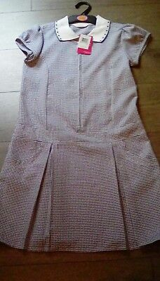 Marks And Spencer Girls Blue School Summer Dress stain defense Age 11 years ****