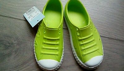 M&S girls Lime Slip On Lightweight Clogs Style Sandals summer shoes UK 8 BNWT