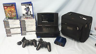 Sony PS2 Playstation 2 Console Bundle, 34 Games, 2 Controllers, In Car DVD #150