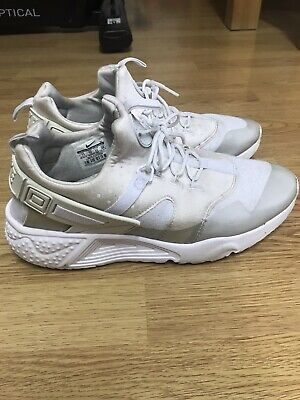 MEN'S NIKE AIR HUARACHE UTILITY Trainers OFF WHITE-GREY Size Uk 10
