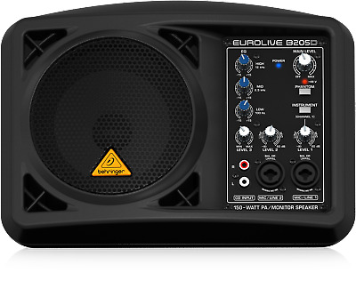 Behringer B205D 150-Watt PA/Monitor Speaker System + Warranty