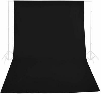 Fodoto 6x9 FT 100% Pure Muslin Collapsible Backdrop Background - Black