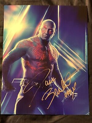 DAVE BAUTISTA Signed GUARDIANS OF THE GALAXY 11x14 Photo Drax WWE #1