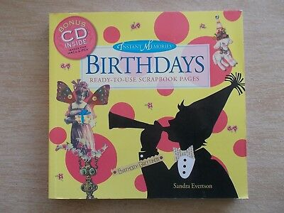 Birthdays~Ready-To-Use Scrapbook Pages~Book & CD~2006