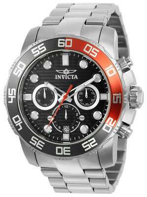 Invicta Pro Diver 22230 Men's Black Round Analog Chronograph Date Watch