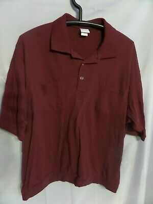 Haband Men's Maroon Polo with waist band shirt size 3x