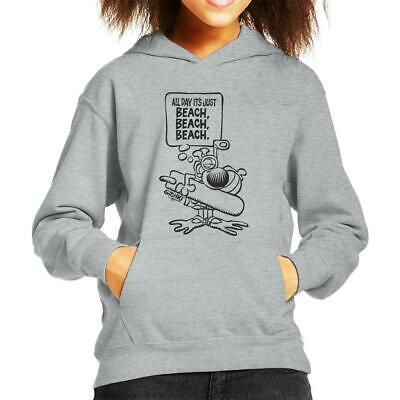 Grimmy Beach All Day Kid's Hooded Sweatshirt