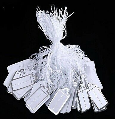 100 Price Labels with String JEWELLERY CLOTHING WEDDING RETAIL Tags
