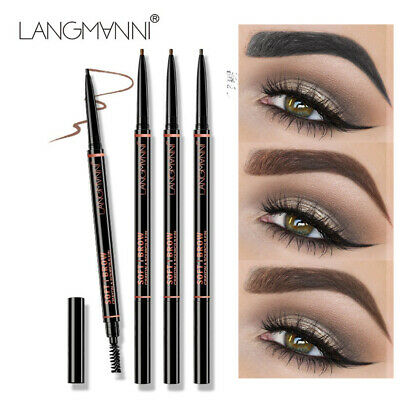 2 in 1 Double Ended Eyebrow Pencil Ultra Slim Enhancer Microblading Makeup Tool