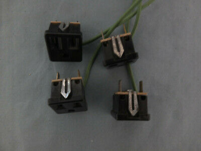 4 Leviton 1374-500 Snap-In Receptacles, 2 Pole-3 Wire, 15A-125V, Mounting Clip