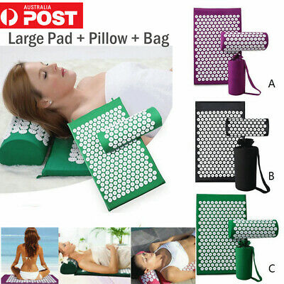 Yoga Massage Acupressure Mat Shakti Sit Lying Mats Pain Soreness Stress Relax AU
