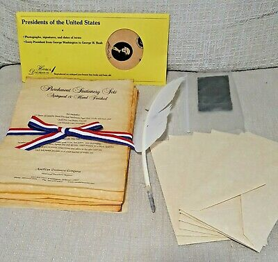 Parchment Stationery Sets Antiqued & Hand Finished. Historical Document Replicas