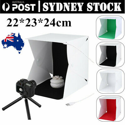 Mini LED Portable Photo Studio Photography Light Tent Backdrop Cube Box AUS uC