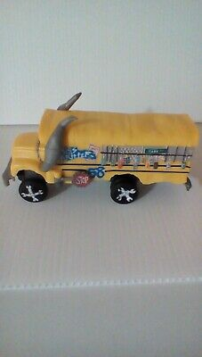 "Disney Pixar Cars  Miss Fritter  School Bus 6"" plastic 2016 Used Good Condition"