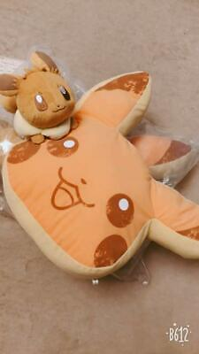 Pokemon Collection 2018 Pikachu & Eevee Pancake Cushion Plush Ichban-kuji F/S