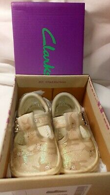 CLARKS GIRLS CANVAS SUMMER DOODLES BRILEY Bow 4F..