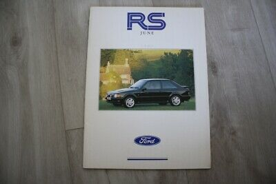 FORD RS Sales Brochure/Catalogue. June 1989.