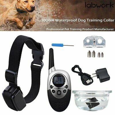 Waterproof Shock Vibrate Remote Training Collar for Large Med Small Dog 1000Yard
