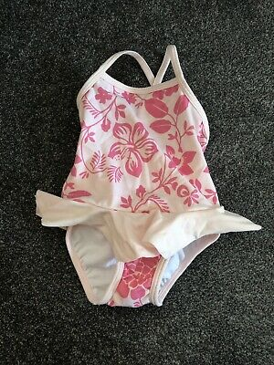 Girls Little White Company Swimming Costume 0-3 Months