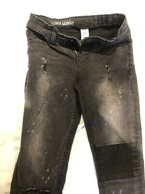 Boys Next Distressed Black Skinny Jeans 9 Years