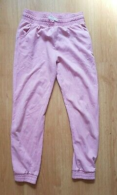 Girls Pink Joggers Jogging Bottoms Age 13